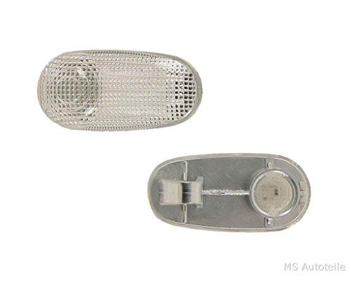MS Autoteile 1723623 Neu Tyc Blinker Seitenblinker, Weiß, Anzahl 1