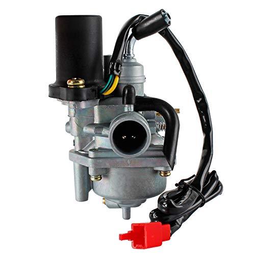 Wilktop 18mm Vergaser, E-Choke Ersatzvergaser Carburetor CPI, 2Takt, Hussar, Minarelli, Popcorn, Oliver, Generic, Keeway (JOG 50 JOG 90)