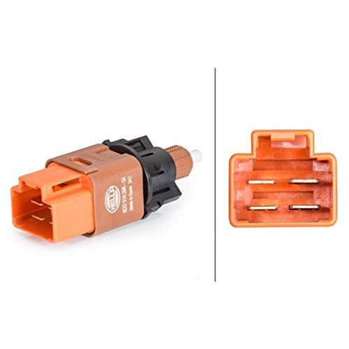 HELLA 6DD 014 395-041 Bremslichtschalter – 4-polig – geclipst – elektrisch