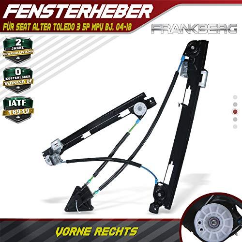 Frankberg Fensterheber Ohne Motor Vorne Rechts für Altea 5P1 Altea XL 5P5/5P8 Toledo III 5P2 MPV 2004-2019 5P0837462