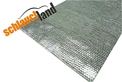 Schlauchland 500x20cm Alu-Fiberglas Hitzeschutzmatte selbstklebend *** Hitzeschutzband Turbo Auspuff Krümmer Isoliermatte Hitzeschutzfolie