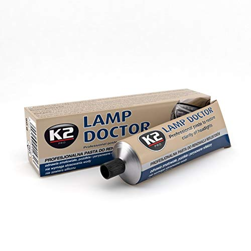 K2 Lampen Doctor, Scheinwerfer Aufbereitung, repariert zerkratztes Glas, Schleifpaste, Acryl Plexiglas Reparatur, Headlight Restoration – lässt trübe Scheinwerfer wieder scheinen