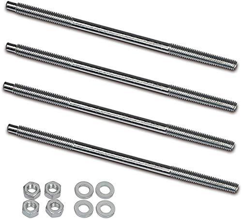 4'er Set Zuganker mit Schrauben – M 6x130mm für Zylinder – Zylinderkopf Simson S50