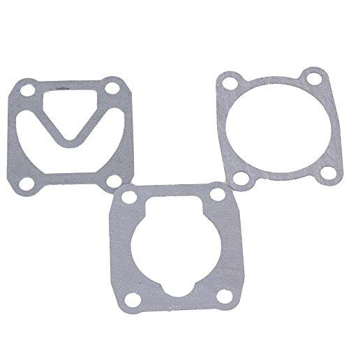 Gray Engineering Plastics Papier Luftkompressor Zylinderkopf Basis Ventilplatte Dichtungen Packung mit 3 Stück