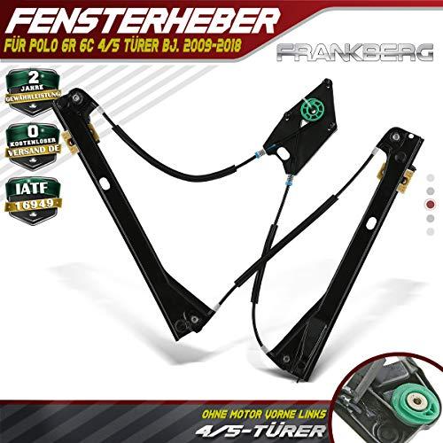 Fensterheber Elektrisch Ohne Motor Vorne Links für Polo 6R 6C 4/5 Türer Bj.2009-2020 6R4837461