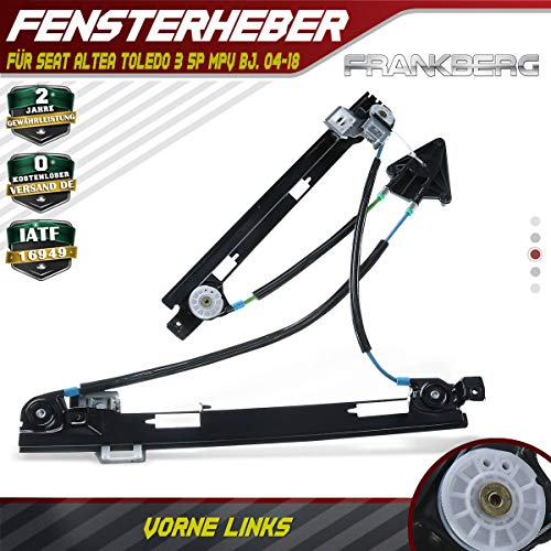 Frankberg Fensterheber Ohne Motor Vorne Links für Altea 5P1 Altea XL 5P5 5P8 Toledo III 5P2 MPV Bj.2004-2019 5P0837461