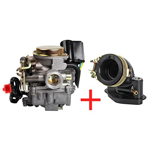 Roller Vergaser 18mm Ansaugstutzen für Rex RS 400 / RS 450 / RS 460 /GY6 50cc E-Choke