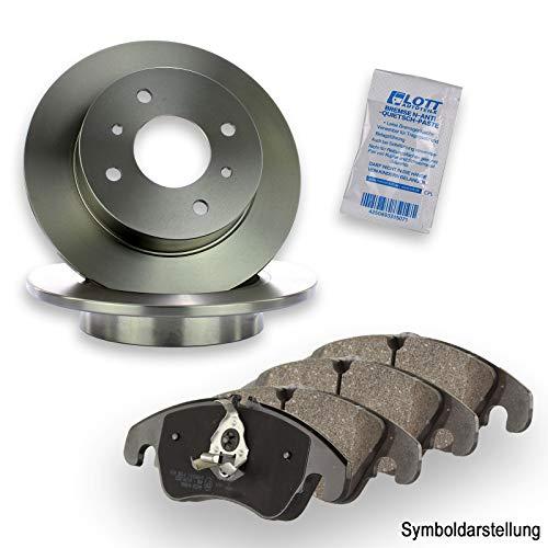 Bremsscheiben Ø230mm Voll + Bremsbeläge Bremsbelagsatz Bremsenset hinten Hinterachse