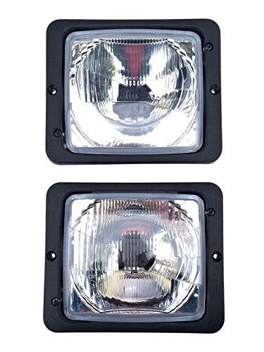 2x Scheinwerfer Fernlicht Abblendlicht H4 172×142 Traktor Zetor Atlas Fendt IHC