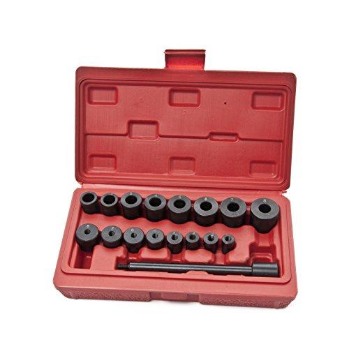 KFZTEILESCHNELLVERSAND24 Universal Kupplung Zentriersatz Werkzeug Zentrierdorn Zentrierwerkzeug KFZ 17tlg