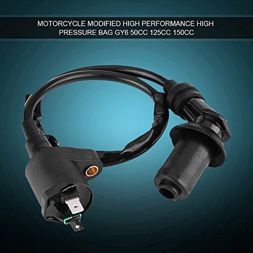 Motor Zündspule, Keenso Zündspule für GY6 50CC 125CC 150CC Motorrad Dirt Bike Roller Moped(Schwarz)