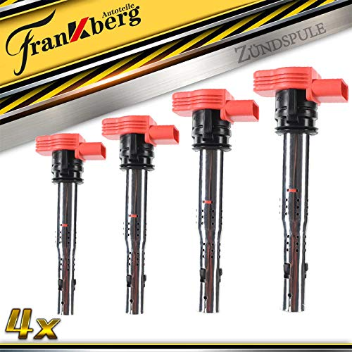 4x Zündspule Zündmodul für A4 8E 8K A5 8T A6 4F A7 4GA A8 Q5 Q7 2.0L 2.4L 3.2L 2002-2018 07K905715G