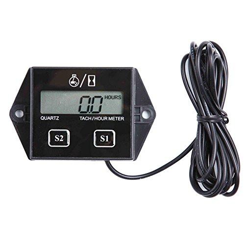 KKmoon SRT-11A Wasserdichtes IP65 Auto Digital Zusatzinstrument Engine Tachometer Drehzahlmesser Betriebsstundenzähler