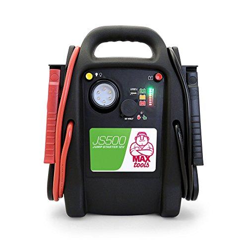 MAXTOOLS, JS500, Batterienotstarter für Autos und Transporter, 2200A 22Ah, für Dieselmotoren und Benzinmotoren, Jump Starter, Booster, mit LED-Licht und USB; JS500