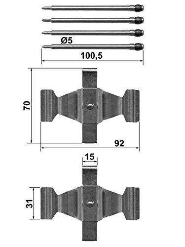 Zubehörsatz Bremsbeläge Vorne von ATE Scheibenbremse (13.0460-0269.2) Zubehörsatz Bremsanlage