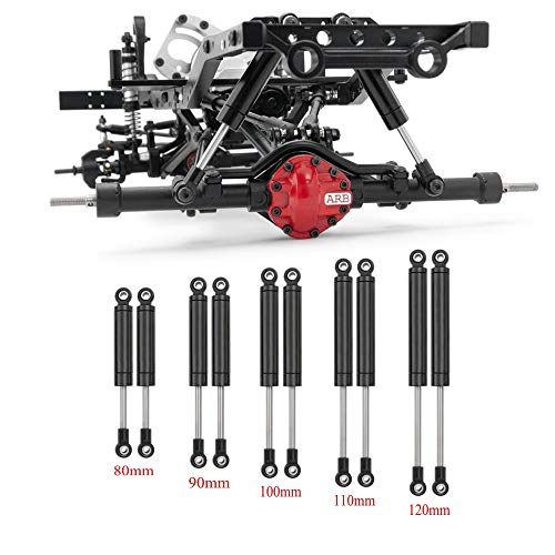 XUNJIAJIE 4 Stück RC Stoßdämpfer 80mm Shocks Absorber Interne Feder für 1/10 RC Crawlers Auto Axial SCX10 D90 TRX4 Wraith Zubehör