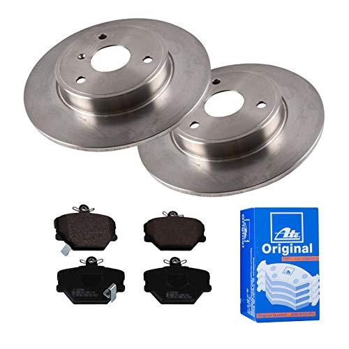 2 Bremsscheiben Voll 280 mm + Bremsbeläge Vorne von ATE (1420-22471) Bremsensatz Bremsanlage Bremsen-Kit,Bremsenset, Bremsscheiben, Bremsbeläge, Bremsen-Set, Beläge, Bremsbelag, Bremsbelagsatz,