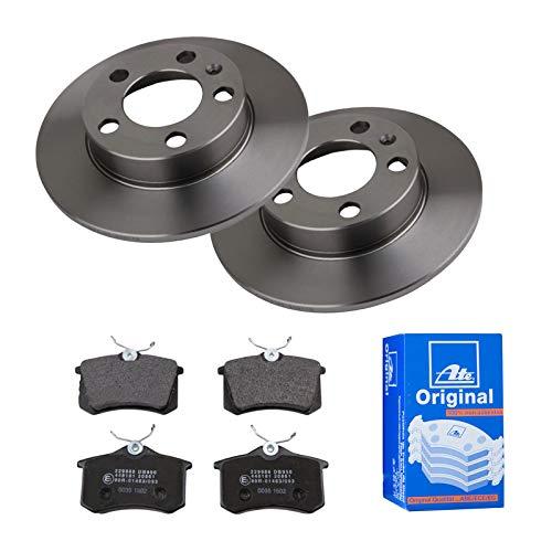 2 Bremsscheiben Ø230 Voll + Bremsbeläge ATE Hinten P-A-02-00198 Bremsanlage