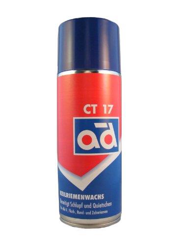 AD Chemie Keilriemenwachs Ct 17 400Ml Aerosol-Dose Spraydose Spray Keilriemen Auto Silikonspray Motor Zahnriemen Gummi Leder Riemen Keilriemenspray Keilriemen-Spray 406053130